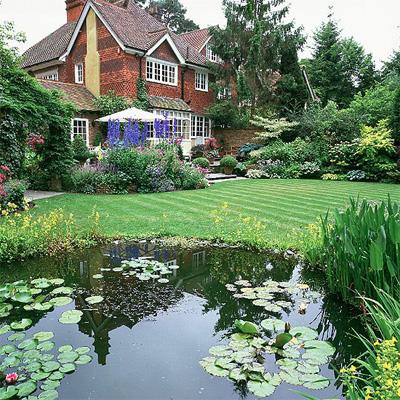 trang trí sân vườn, nhà đẹp