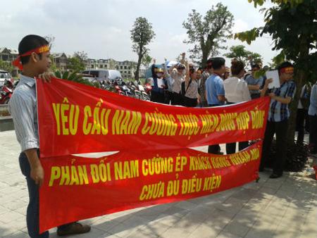 tập đoàn Nam Cường, khu đô thị mới Dương Nội, biểu tình, bàn giao nhà