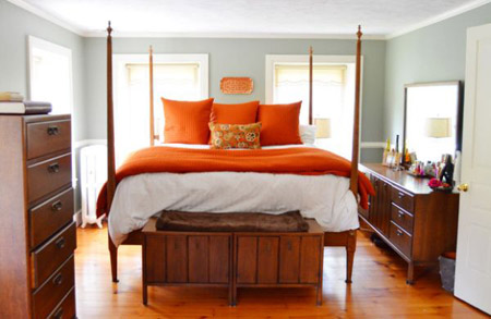 mẫu nội thất đẹp, ngôi nhà màu cam, nhà đẹp, trang trí nhà, thiết kế