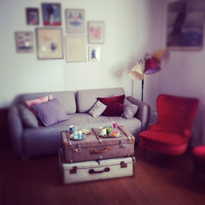 tận dụng đồ cũ, trang trí nhà, phong cách vintage, tranh nghệ thuật