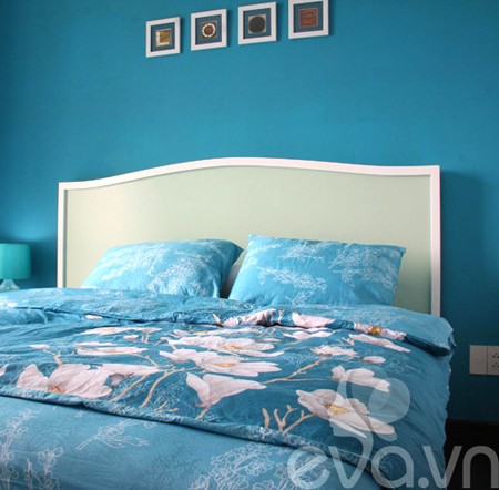căn hộ trắng xanh, căn hộ Phú Mỹ Hưng, thiết kế căn hộ