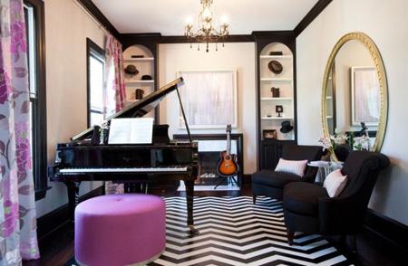nội thất, nhà đẹp, trang trí nhà, màu oải hương, nội thất màu tím