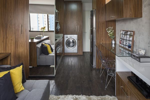 căn hộ 30m2, giải pháp cho nhà chật, bài trí nội thất, trang trí nhà, mua nhà