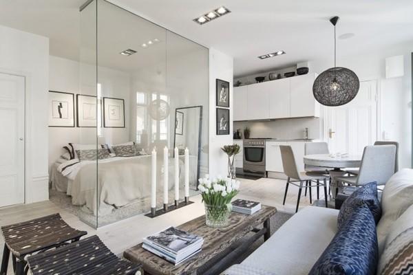 căn hộ nhỏ, thiết kế nhà, nhà đẹp, nội thất, căn hộ vách kính