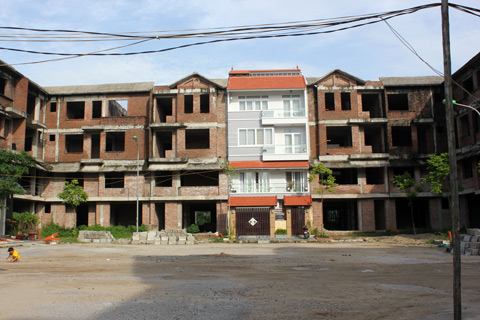 biệt thự hoang, nhà triệu đô, nạn đạo chích, biệt thự hoang hóa, Vinaconex, liền kề Trung Văn