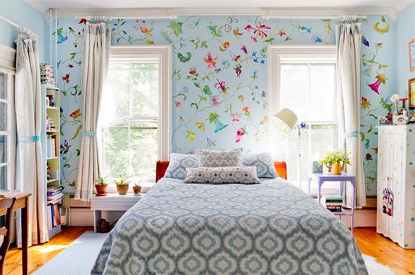 trang trí phòng ngủ, market phòng ngủ, phòng ngủ sắc màu, tiện nghi hoa, design nhà