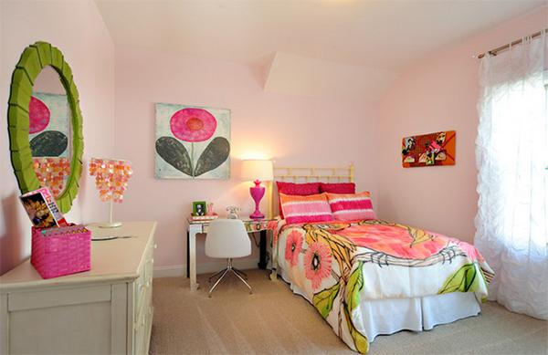trang hoàng phòng ngủ, kiến trúc phòng ngủ, phòng ngủ sắc màu, nội thất hoa, design nhà