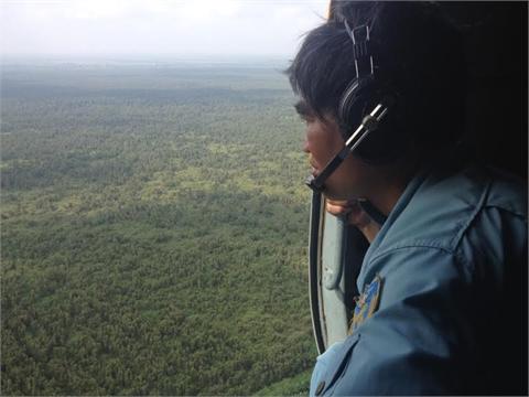 Quần thảo rừng U Minh tìm máy bay mất tích