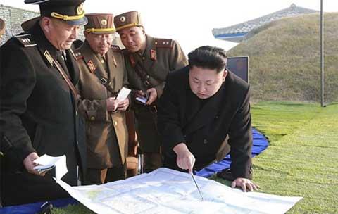 Xem quân Triều Tiên tập trận chiếm đảo