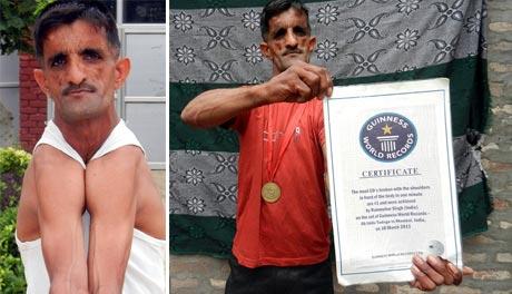 Xem dị nhân vai cao su Ấn Độ phá kỷ lục thế giới
