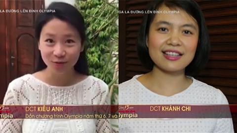 Kiều Anh và Khánh Chi trong Gala 15 năm của Đường lên đỉnh Olympia