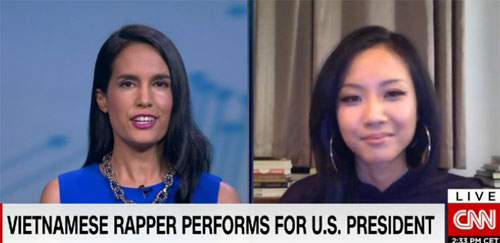 CNN interviews Vietnamese rapper Suboi about her chat with President Obama