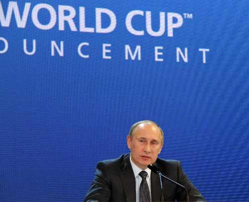 Putin pledges a successful World Cup