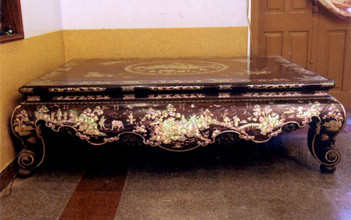 This is the timber bed which is considered the most sophisticatedly inlaid bed