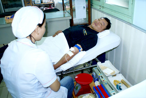 The person who has donated his blood the highest number of times in Vietnam