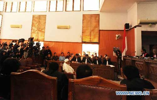 Indonesian terrorist suspect Baasyir sentenced to 15 years of life in prison