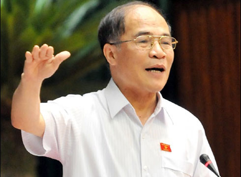 Nguyen Sinh Hung elected as National Assembly Chairman