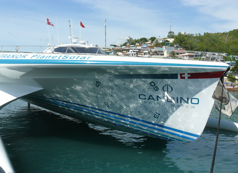 World largest solar-powered ship in Nha Trang