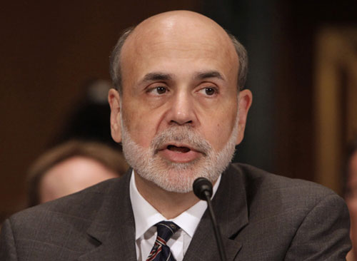 Bernanke hints further actions to stimulate U.S. economy