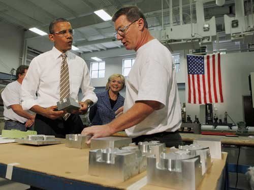 U.S. president touts jobs bill as boon to small businesses