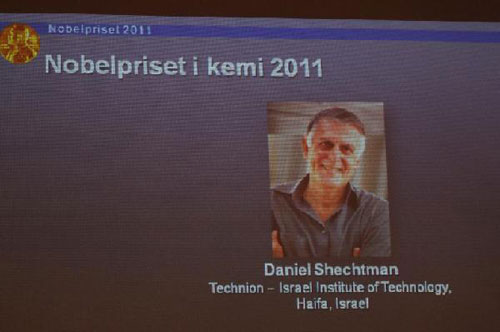 Israeli scientist wins 2011 Nobel Prize in Chemistry