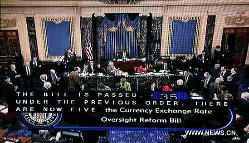 U.S. Senate passes controversial currency bill amid China's strong opposition