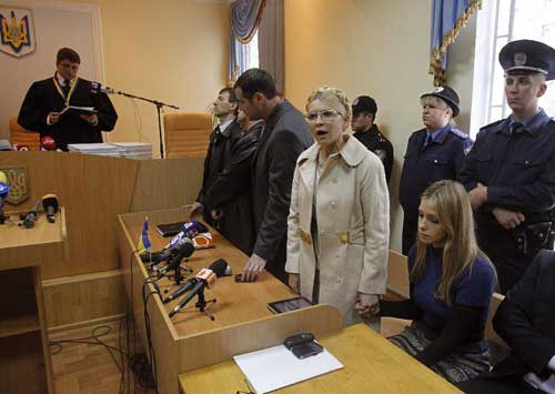 Ukraine's Tymoshenko sentenced to 7 years in prison