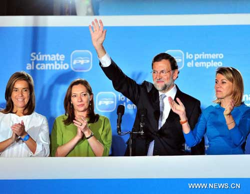 Mariano Rajoy's Popular Party wins general elections in Spain