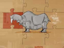 Image of extinct rhino wins editorial cartoon competition