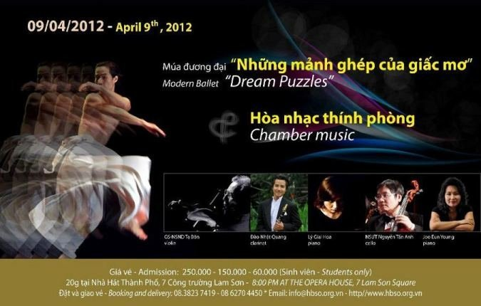 """Dream Puzzles"" chamber music and modern ballet in HCM City"