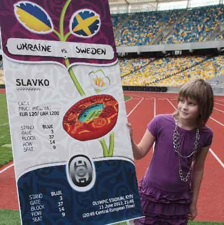 Euro 2012 ticket design unveiled in Ukraine