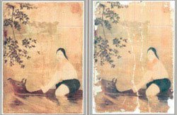 Japanese art lovers restore paintings Vietnamese silk paintings