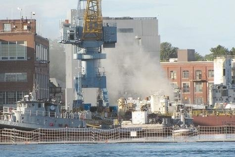 U.S. nuclear submarine catches fire, injuring 7