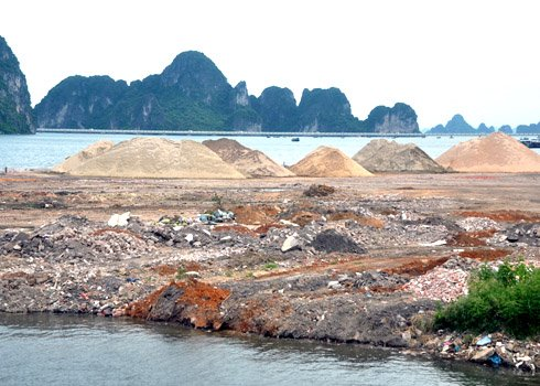 Ha Long Bay encroached with concrete