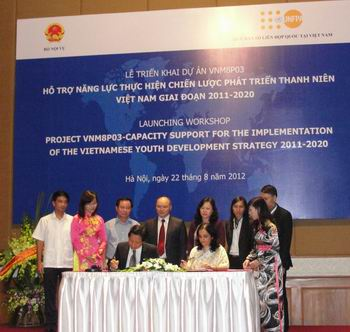 Vietnamese Youth Development Strategy project signed
