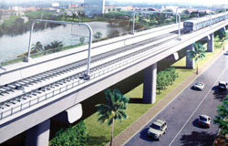 Metro Line 1, Viet Nam's first metro line worth US $2.2 billion, will pass through several districts in HCM City.