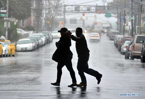 Post-Tropical Cyclone Sandy makes landfall in New Jersey