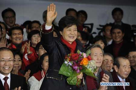 Conservative Park Geun-hye elected first female president of S. Korea