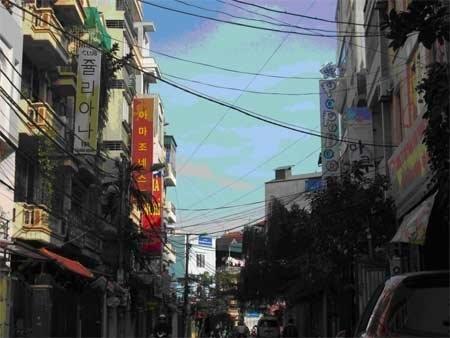 Korean streets amid Hanoi