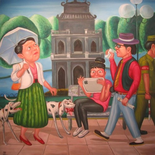 painting, exhibition, Hanoi, artist
