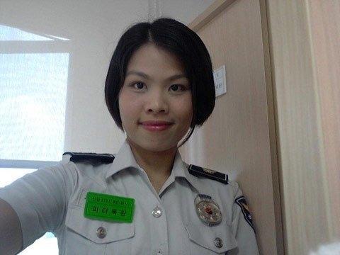 20130124085016 8 Ms. Phi Thi Ngoc Lan, the first (?) Vietnamese policewoman in Korea