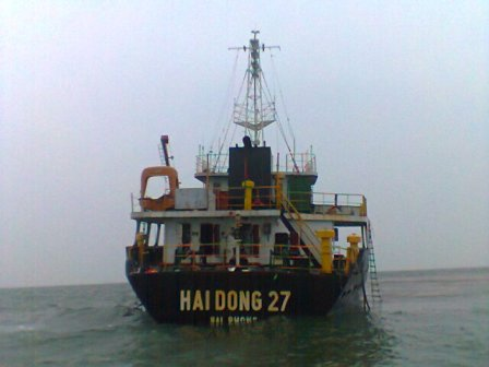 Fishermen discover unmanned cargo ship floating on the sea