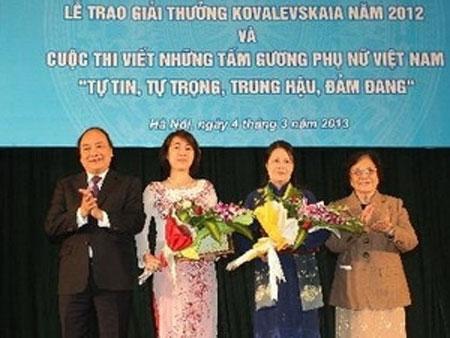 Kovalevskaya awards 2012, Vietnam Kovalevskaya Award Committee