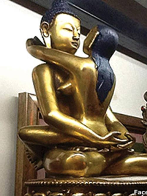 buddha statue, buddhism, buddhist, odd statue, lust