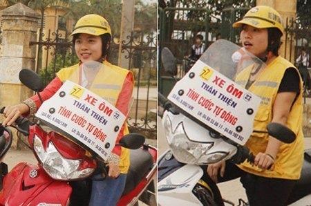 xe om, female drivers, school, students