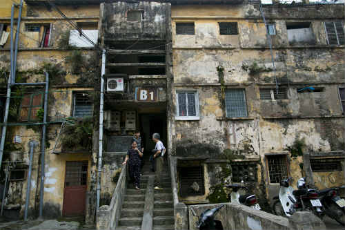 Old Apartment Block, Hanoi, Building, Daily Life Part 96