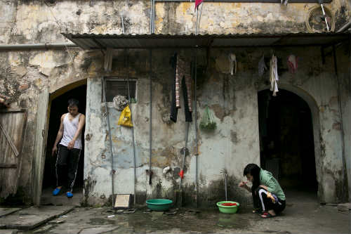 Old Apartment Block, Hanoi, Building, Daily Life Part 84