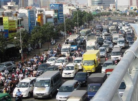 car, motorcycle, traffic, car registration, saigon, hcm city