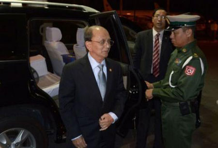 Myanmar leader heads to White House