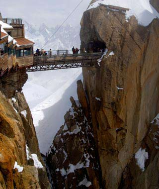 Aiguille du Midi Bridge, France.
